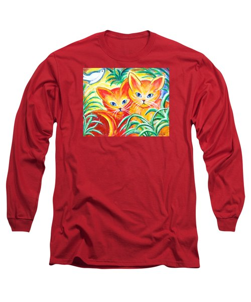 Two Cats Long Sleeve T-Shirt by Anya Heller