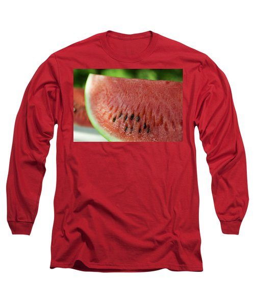 Two Slices Of Watermelon Long Sleeve T-Shirt