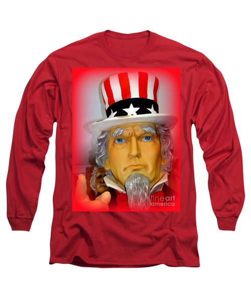 Uncle Sam Wants You Long Sleeve T-Shirt by Ed Weidman