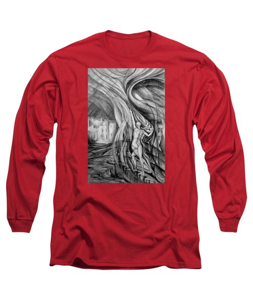 Uprising To Heaven  Long Sleeve T-Shirt by Mikhail Savchenko