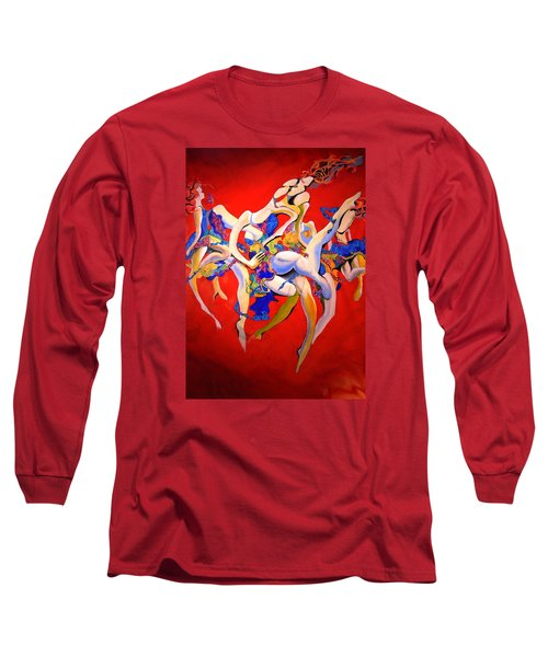 Long Sleeve T-Shirt featuring the painting Valkyries by Georg Douglas