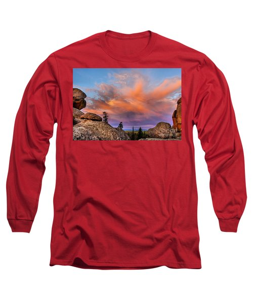 Vedauwoo Sunrise Long Sleeve T-Shirt by Steven Reed