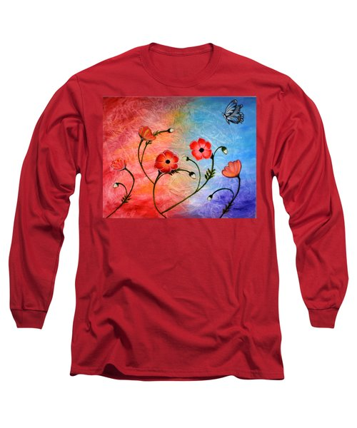 Vibrant Poppies Long Sleeve T-Shirt