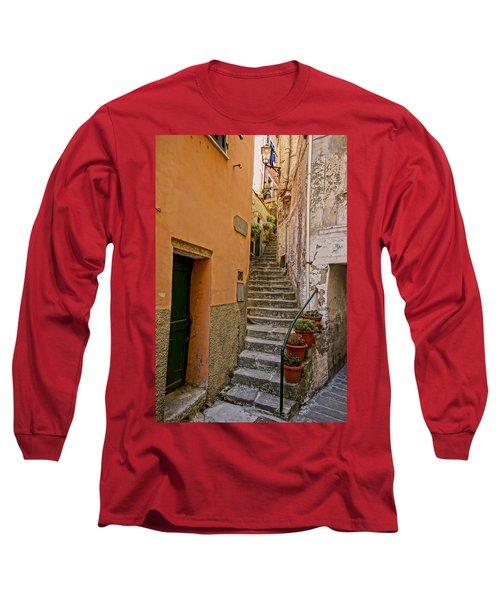 Vicolo Della Valle Riomaggiore Italy Dsc02537  Long Sleeve T-Shirt