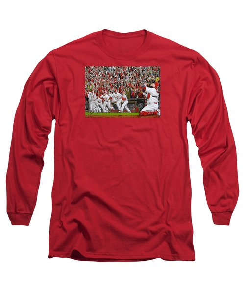 Victory - St Louis Cardinals Win The World Series Title - Friday Oct 28th 2011 Long Sleeve T-Shirt by Dan Haraga