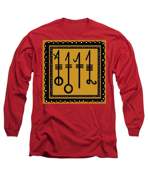 Long Sleeve T-Shirt featuring the digital art Viking Sleepthorn Spell by Vagabond Folk Art - Virginia Vivier