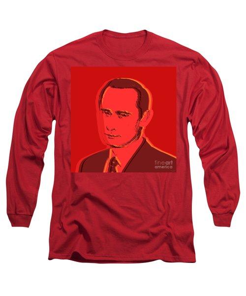 Vladimir Putin Long Sleeve T-Shirt by Jean luc Comperat