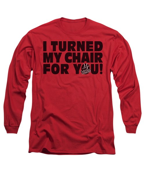 Voice - Turned My Chair Long Sleeve T-Shirt by Brand A