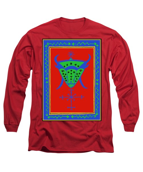 Long Sleeve T-Shirt featuring the digital art Voodoo Bosou by Vagabond Folk Art - Virginia Vivier