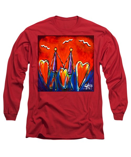 Walk With Me Long Sleeve T-Shirt by Jackie Carpenter