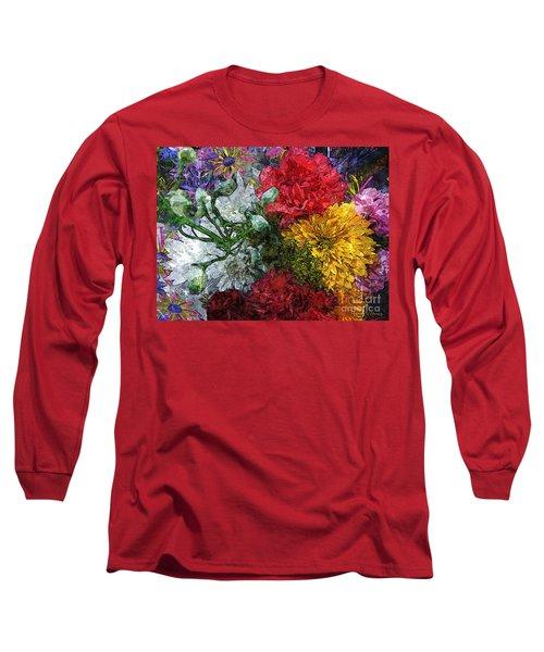 Warning Flowers At Large Long Sleeve T-Shirt by Joseph J Stevens