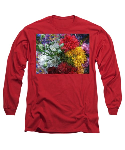 Warning Flowers At Large Long Sleeve T-Shirt