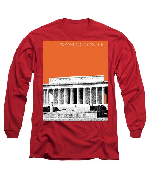 Washington Dc Skyline Lincoln Memorial - Coral Long Sleeve T-Shirt