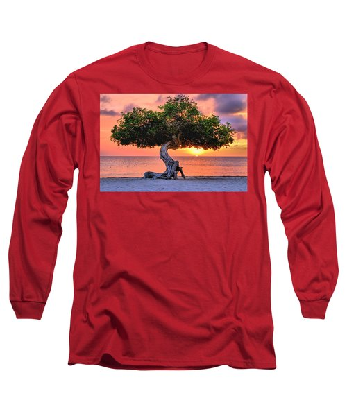 Watapana Tree - Aruba Long Sleeve T-Shirt