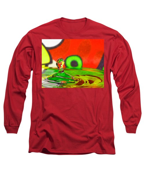 Long Sleeve T-Shirt featuring the photograph Water Hill by Peter Lakomy