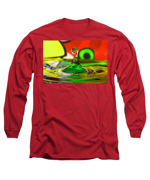 Long Sleeve T-Shirt featuring the photograph Water Stick by Peter Lakomy