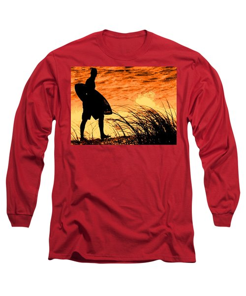 Long Sleeve T-Shirt featuring the photograph Wave Search by Ian  MacDonald