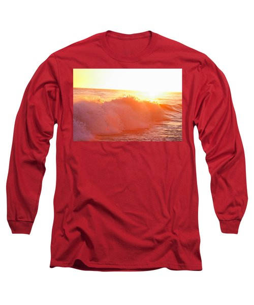 Waves In Sunset Long Sleeve T-Shirt