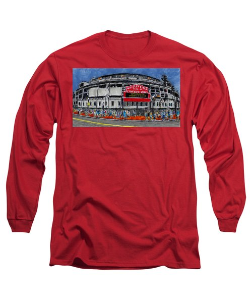 Welcome To Wrigley Field Long Sleeve T-Shirt by Phil Strang