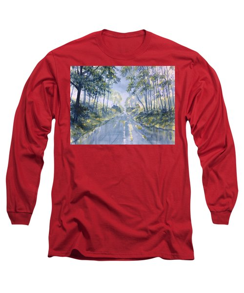 Wet Road In Woldgate Long Sleeve T-Shirt