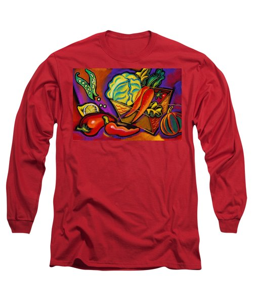 Very Healthy For You Long Sleeve T-Shirt by Leon Zernitsky