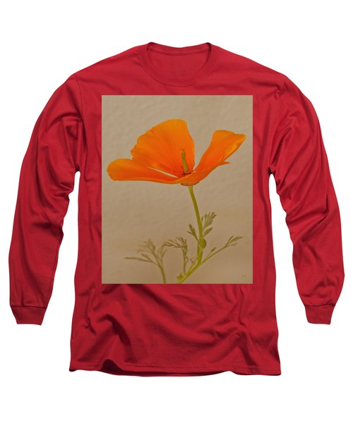 Wild California Poppy No 1 Long Sleeve T-Shirt