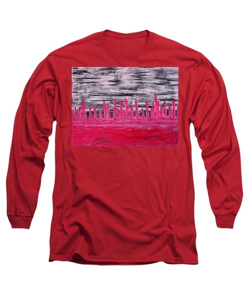 Winter Hoodoos Original Painting Long Sleeve T-Shirt