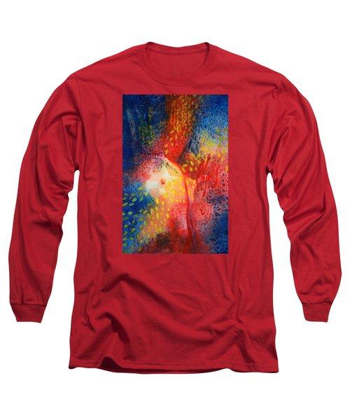 World Within Long Sleeve T-Shirt by Lynda Hoffman-Snodgrass