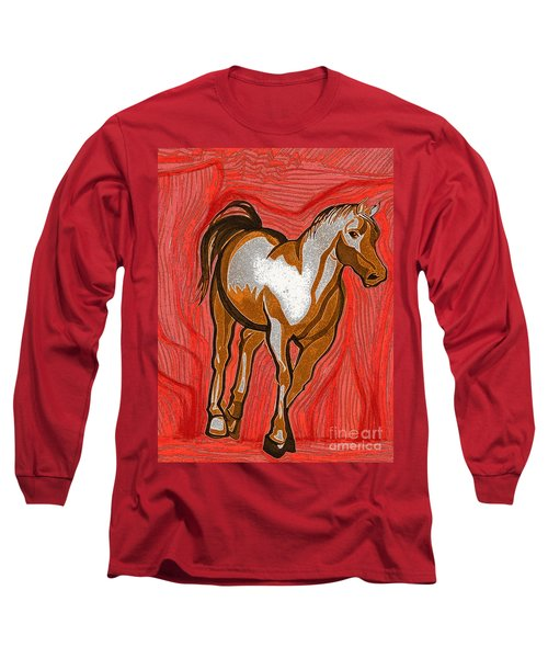 Year Of The Horse By Jrr Long Sleeve T-Shirt
