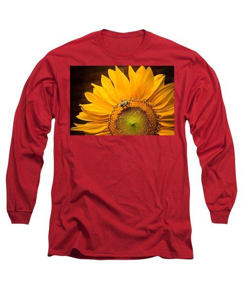 Yellow And Black Long Sleeve T-Shirt by Sara Frank
