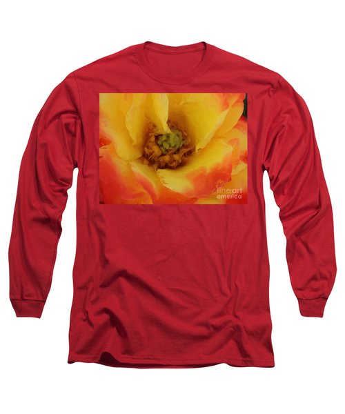 Yellow And Orange Rose Long Sleeve T-Shirt