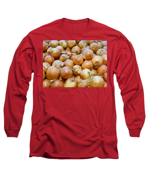 Long Sleeve T-Shirt featuring the photograph Yellow Onions by Emmy Marie Vickers