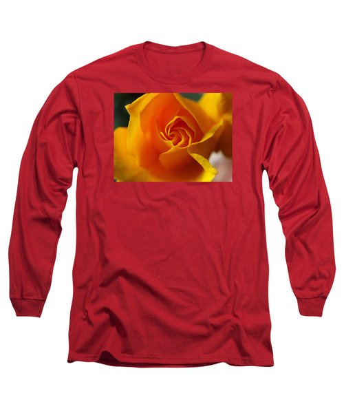 Yellow Swirl Long Sleeve T-Shirt by Joe Schofield