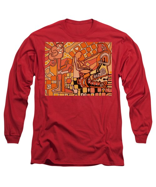 Long Sleeve T-Shirt featuring the painting You Me And The Machine by Barbara St Jean