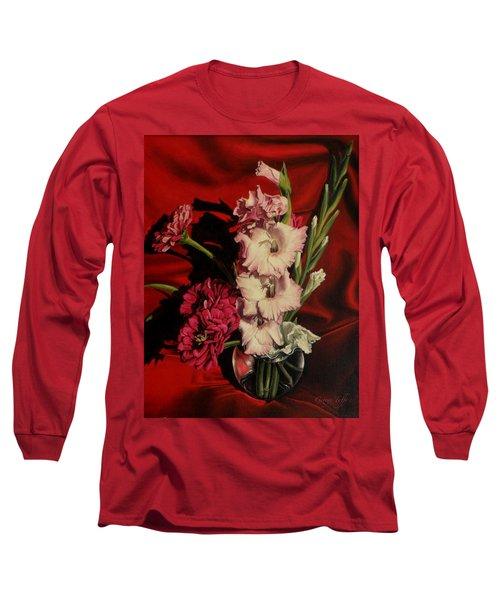 Zinnias And Gladiolas Long Sleeve T-Shirt