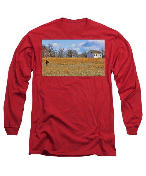 Artist In Field Long Sleeve T-Shirt
