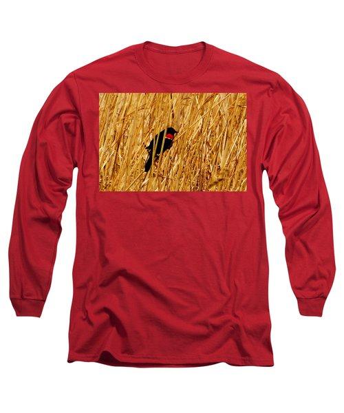 Blackbird In The Reeds Long Sleeve T-Shirt