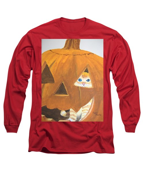 Long Sleeve T-Shirt featuring the painting Peekaboo by Norm Starks