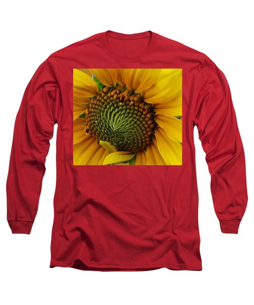 Long Sleeve T-Shirt featuring the photograph Sunflower Close Up by Bruce Bley