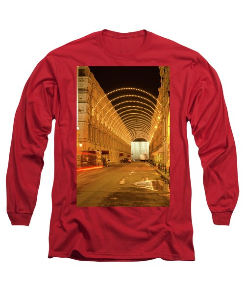 Red Square In Moscow At Night Long Sleeve T-Shirt