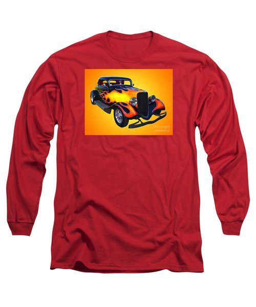 1934 Ford 3 Window Coupe Hotrod Long Sleeve T-Shirt by Jim Carrell