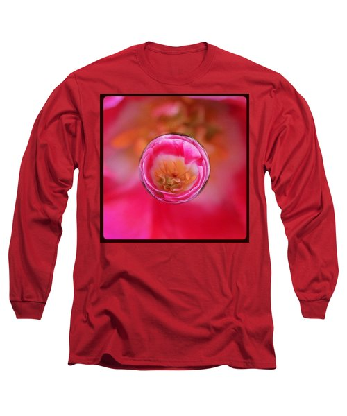 A Tiny Perfect Tulip In A Marble Long Sleeve T-Shirt