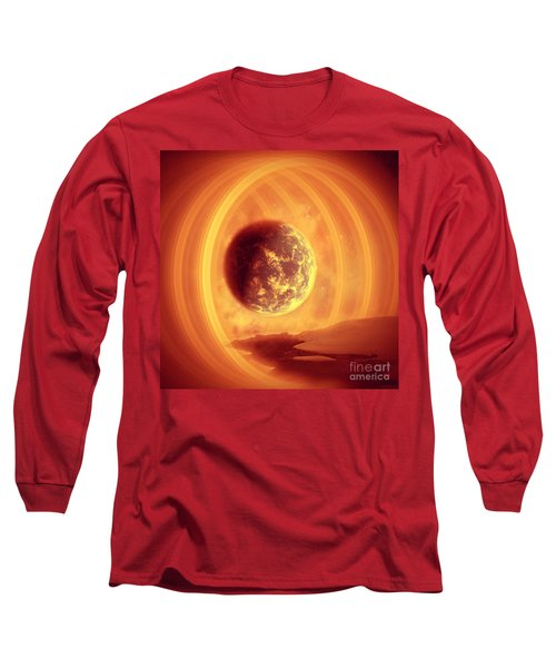Long Sleeve T-Shirt featuring the digital art A Whole New World by Ester  Rogers