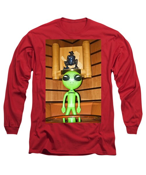 Alien In The Corner Booth Long Sleeve T-Shirt