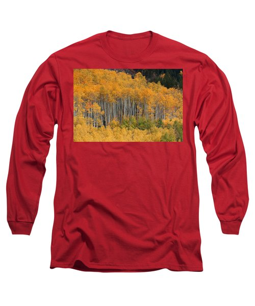 Long Sleeve T-Shirt featuring the photograph Autumn Curtain by Jim Garrison
