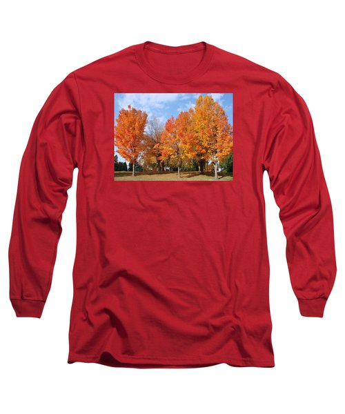 Autumn Leaves Long Sleeve T-Shirt by Athena Mckinzie