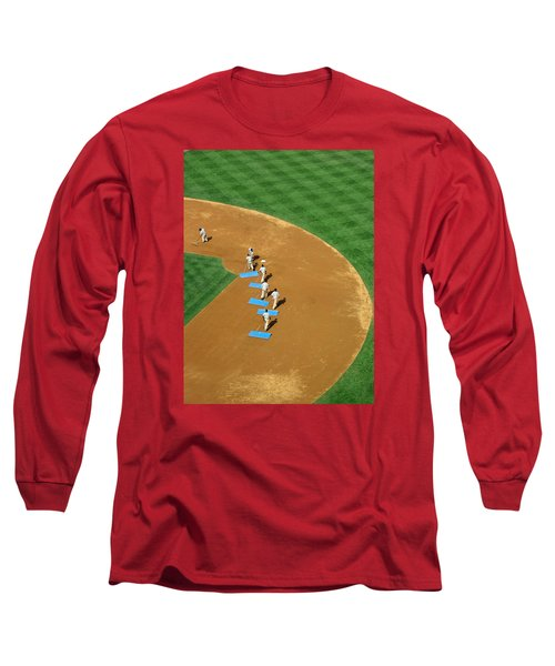 Long Sleeve T-Shirt featuring the photograph Between Innings by Mike Martin