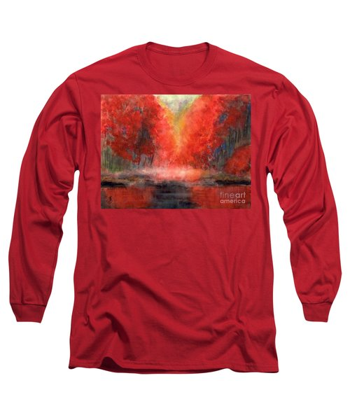 Burning Lake Long Sleeve T-Shirt by Yoshiko Mishina