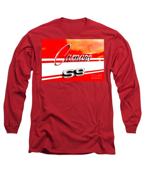 Long Sleeve T-Shirt featuring the digital art Camaro Ss Flank by Tony Cooper