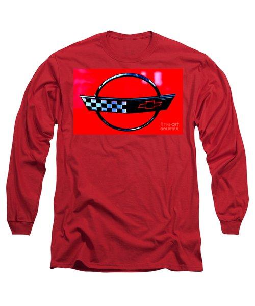Long Sleeve T-Shirt featuring the digital art Chevrolet Corvette by Tony Cooper